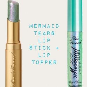 Too Faced mermaid tears lipstick (2 piece set)